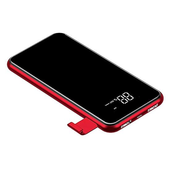 Baseus Full Screen Bracket Wireless Charge Power Bank 8000mAh PPALL-EX09 red