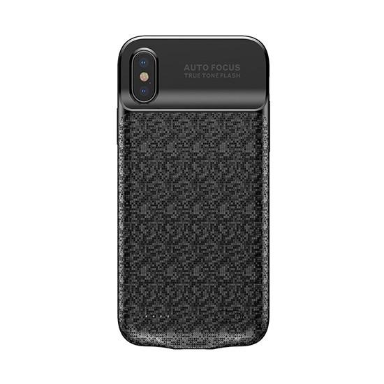 Baseus Plaid Backpack Power Bank Case 3500mAh Apple iPhone X ACAPIPHX-BJ01 black