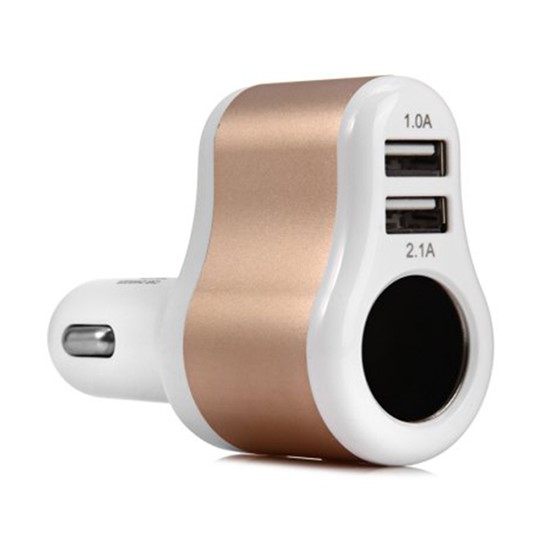Изображение Hoco Car Charger 3.1A Dual Output UC206 white gold
