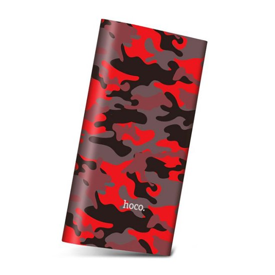 Hoco Power Bank 10000mAh Camouflage Series J9 red