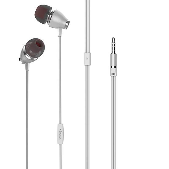Изображение Hoco Ariose Universal Earphones With Mic M28 white