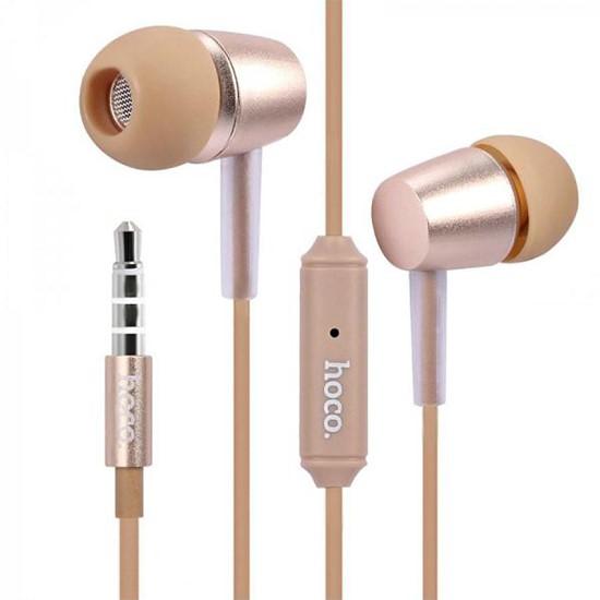 Hoco Metal Universal Wire-Control Earphones M10 gold