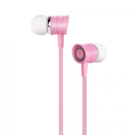 Изображение Hoco Pleasant Sound Earphone with Mic M37 pink