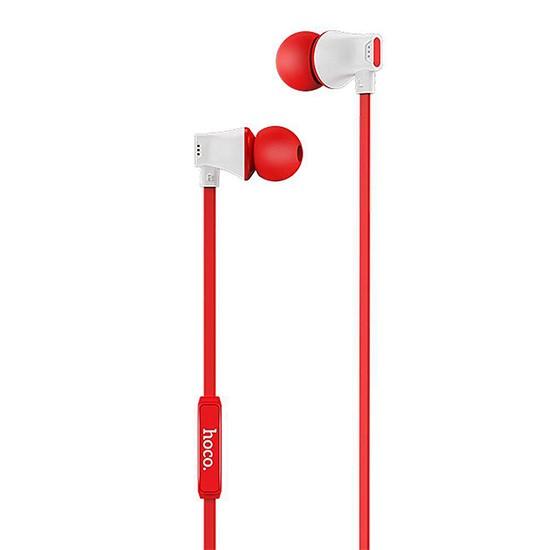 Hoco Warbler Universal Earphones With Mic M27 red