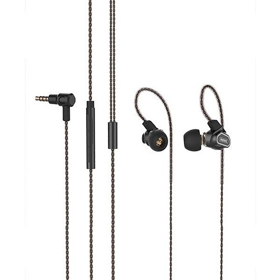 Remax Double Moving-coil Earphone RM-580 black