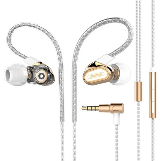 Изображение Remax Double Moving-coil Earphone RM-580 gold
