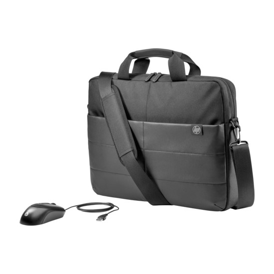 HP Laptop Bag 15.6 inches Briefcase and Mouse 1FK06AA black