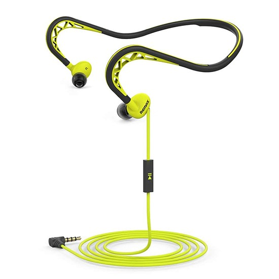 Remax Sports Wired Headset RM-S15 black/green