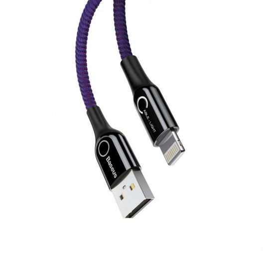 Baseus C-shaped Light Intelligent Power-Off Cable CALCD-05 purple