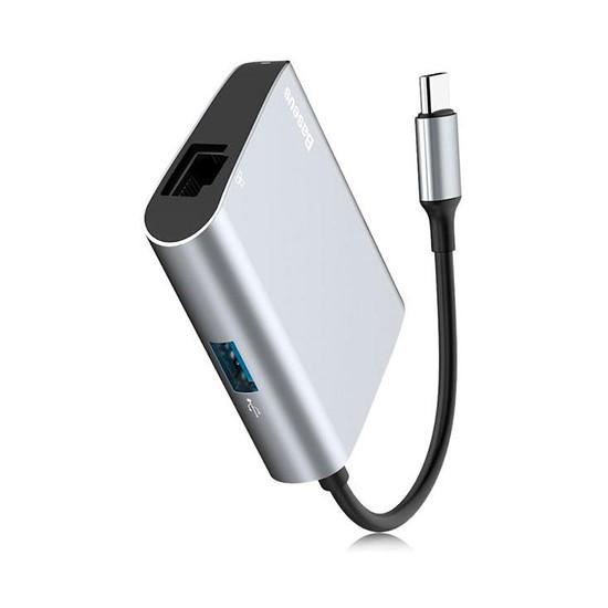 Baseus Enjoyment Series Type-C to SD+TF Card+USB 2.0 HUB Adapter CATSX-C0G grey
