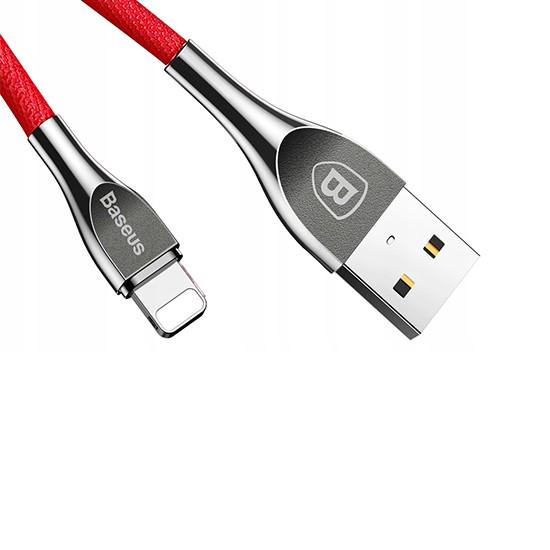 Baseus Mageweave Zinc Alloy Cable USB Lightning 2A 1M CALMW-09 red