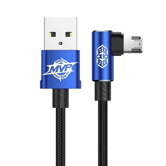 Baseus MVP Elbow Type Cable USB Micro 2A 1M CAMMVP-A03 blue