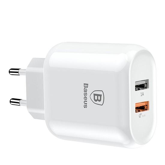 Изображение Baseus Bojure Series Dual-USB Quick Charge Charger EU 18W CCALL-AG02 White