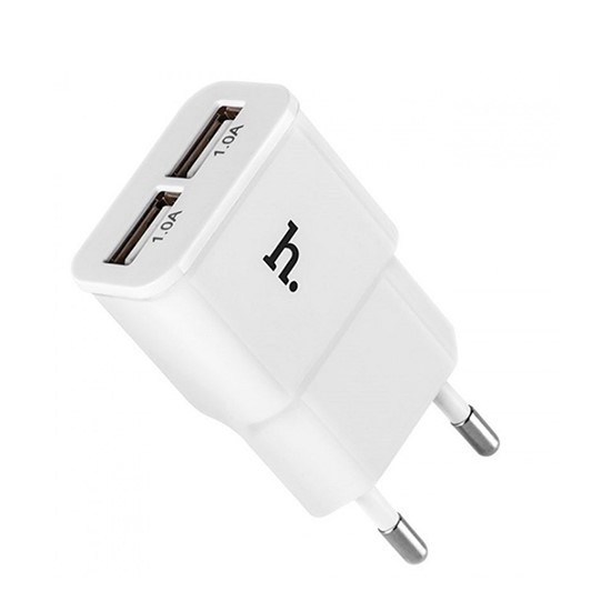 Изображение Hoco Double USB Charger 2.1A UH202 (2 round pin) White
