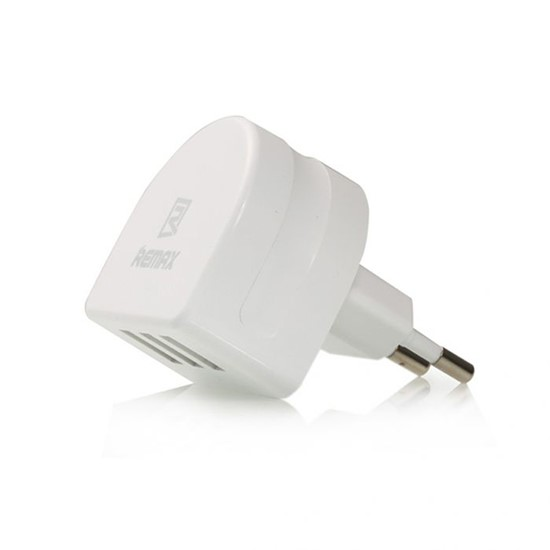 Remax Travel Charger 3 USB RP-U31 (2 round pin) White
