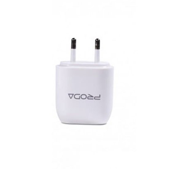Proda USB Charger 2 USB RP-U21 without cable (2 round pin) White