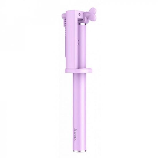 Изображение Hoco Neoteric Wire Controlable Selfie Stick K5 purple