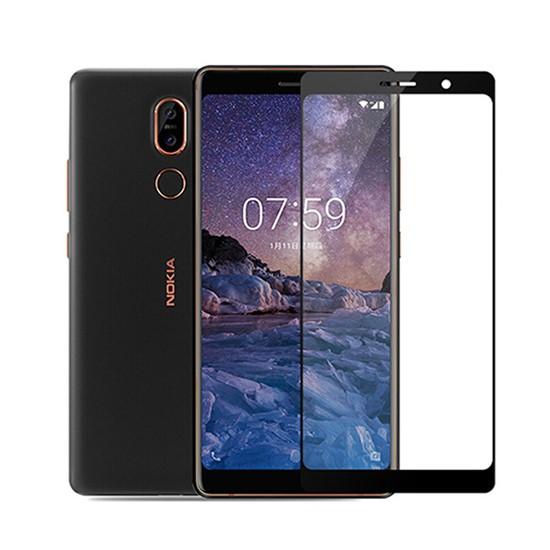 Изображение Glass Pro+ Full Screen Tempered Glass Nokia 7 Plus black