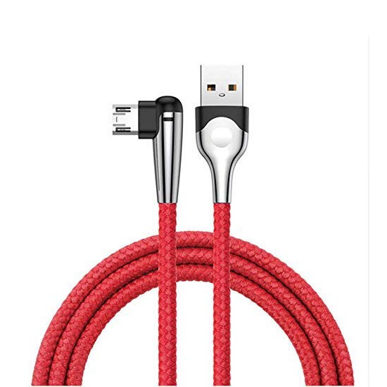 Baseus MVP Mobile game Cable USB For Micro 2.4A 1M CAMMVP-E09 red