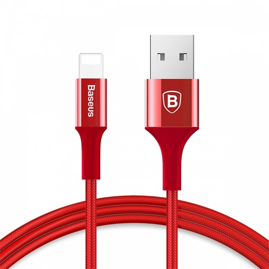Baseus Shining Cable With Jet metal 1M CALSY-09 red