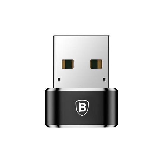 Baseus USB Male To Type-C Female Adapter Converter CAAOTG-01 black