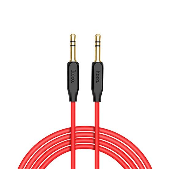 Hoco Aux Audio Cable TPE Braid UPA11 100cm red