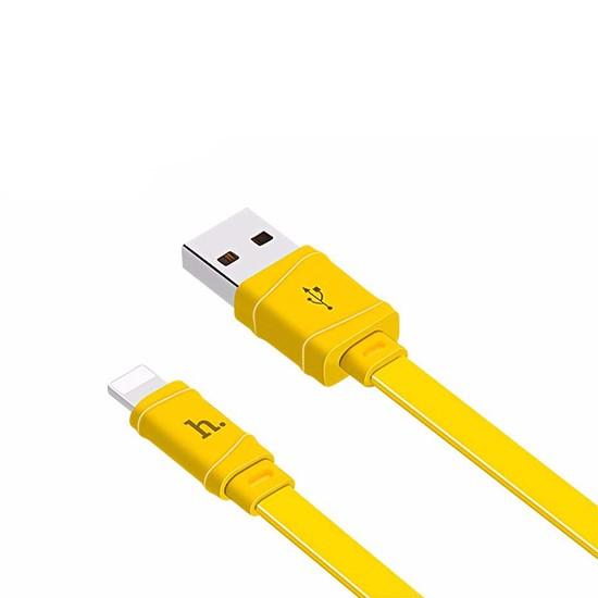 Изображение Hoco Bamboo Charging Cable X5 Lightning 1m yellow