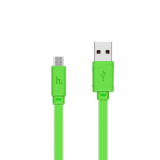 Изображение Hoco Bamboo Charging Cable X5 Micro USB 1m green