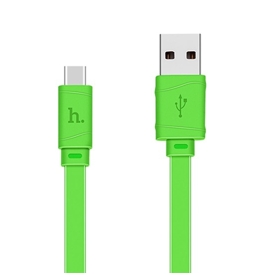 Hoco Bamboo Charging Cable X5 Type-C 1m green