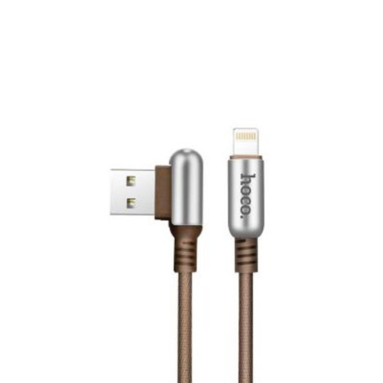 Hoco Capsule Lightning Charging Cable U17 coffee