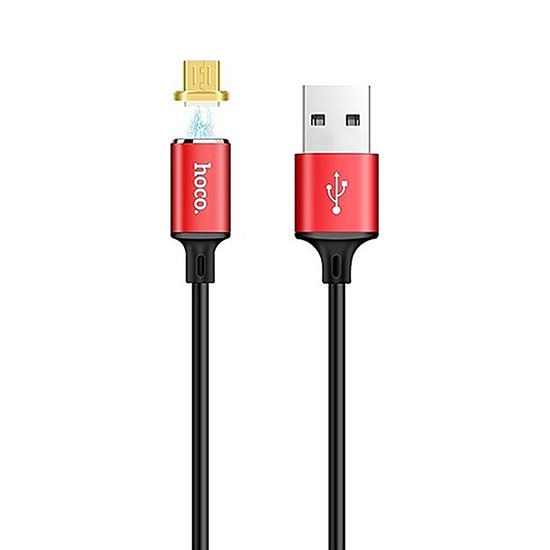 Hoco Magnetic Charging Cable Adsorption Micro U28 red