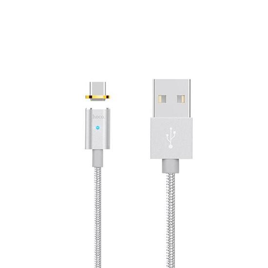 Изображение Hoco Magnetic Data Cable U16 Type-C silver