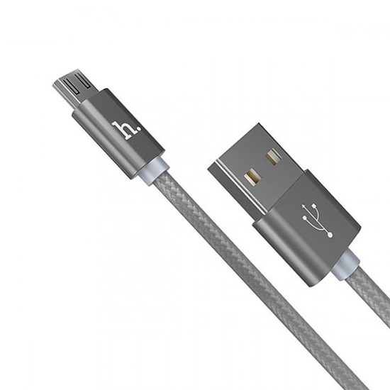Hoco Rapid Charging Cable X2 Micro USB 1m grey