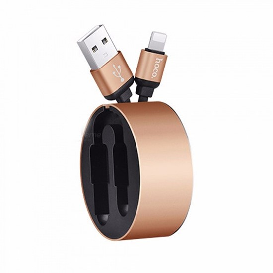 Hoco Resilient Collectable Lightning Charging Cable U23 gold