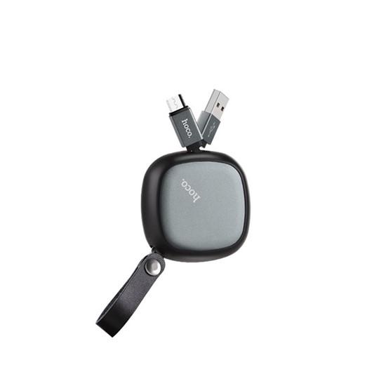 Hoco Retractable charging cable Micro U33 black