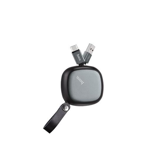 Hoco Retractable charging cable Type-C U33 black