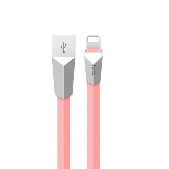 Изображение Hoco Rombic Charging Cable X4 Apple iPhone 6/7 1.2m light pink