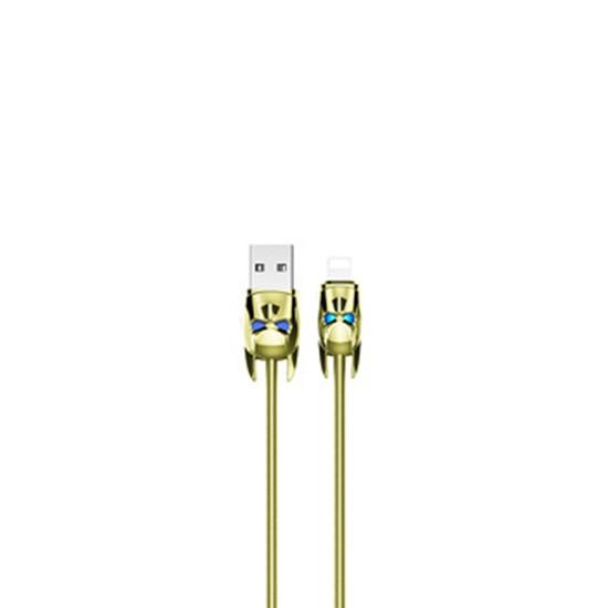 Изображение Hoco Shadow Knight Lightning Charging Cable U30 gold