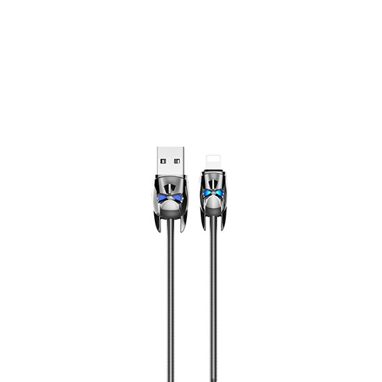Hoco Shadow Knight Lightning Charging Cable U30 grey