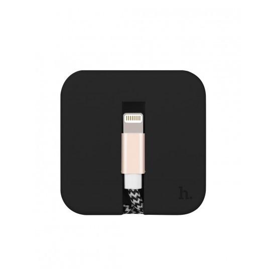 Hoco Silica Assemble Charging Cable Lightning U4 black