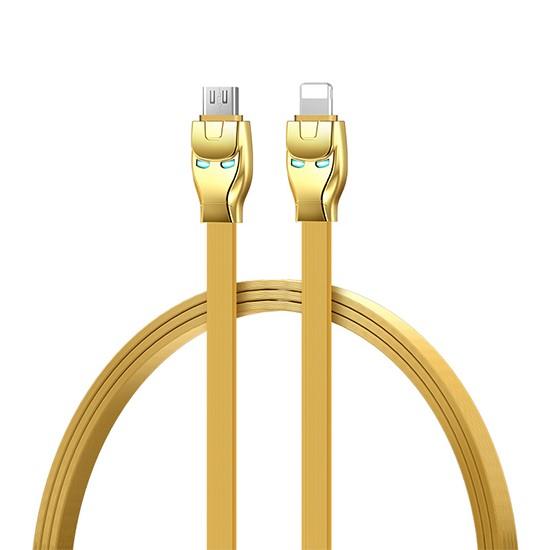 Hoco Steel Man Charging Cable U14 lightning gold