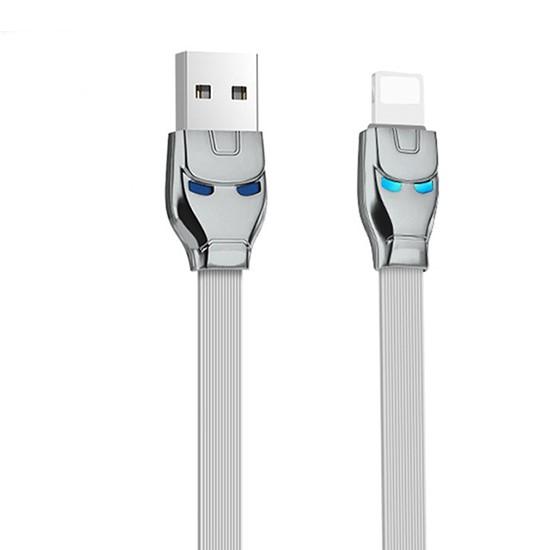 Hoco Steel Man Charging Cable U14 lightning grey