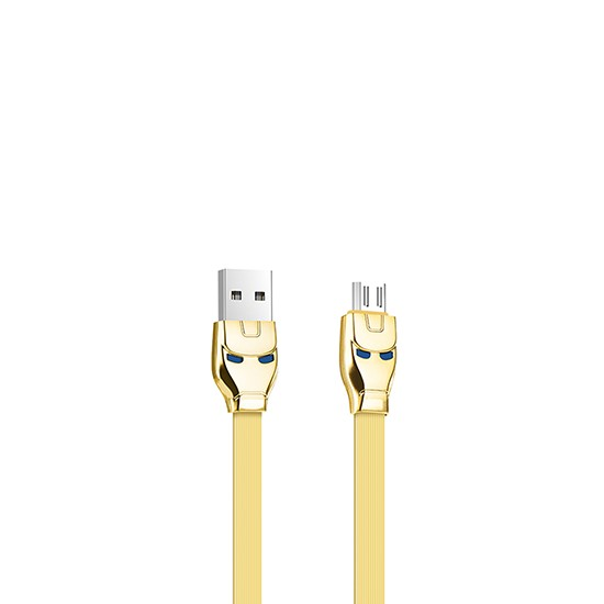 Hoco Steel Man Charging Cable U14 Micro USB gold