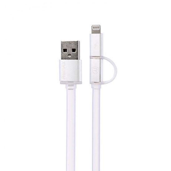 Remax 2 in 1 Data Line Cable Aurora 1000mm white