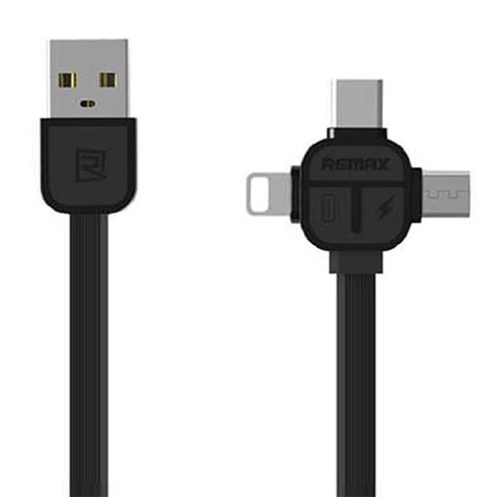 Remax 3 in 1 Data Cable Lesu 1000mm RC-066th black