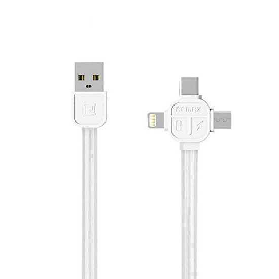 Изображение Remax 3 in 1 Data Cable Lesu 1000mm RC-066th white