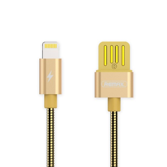 Изображение Remax Silver Serpent Series Cable Lightning RC-080i gold
