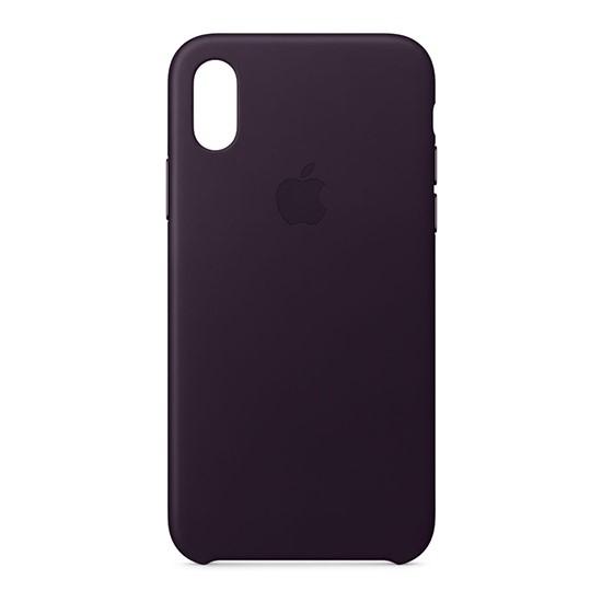 Изображение Apple Leather Case For iPhone X dark aubergine