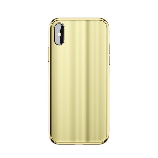 Baseus Glass Sparkling Case Apple iPhone X WIAPIPHX-KI0V gold