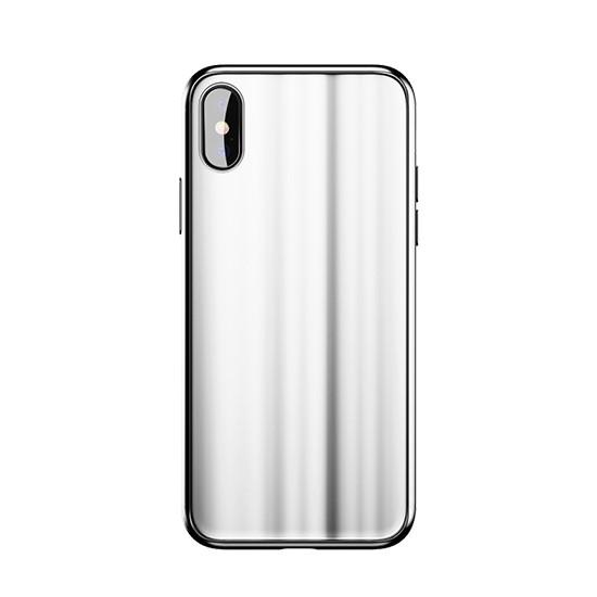 Baseus Glass Sparkling Case Apple iPhone X WIAPIPHX-KI02 white